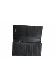 Versace Women's Black Textured Leather Medusa Logo Wallet: Picture 4
