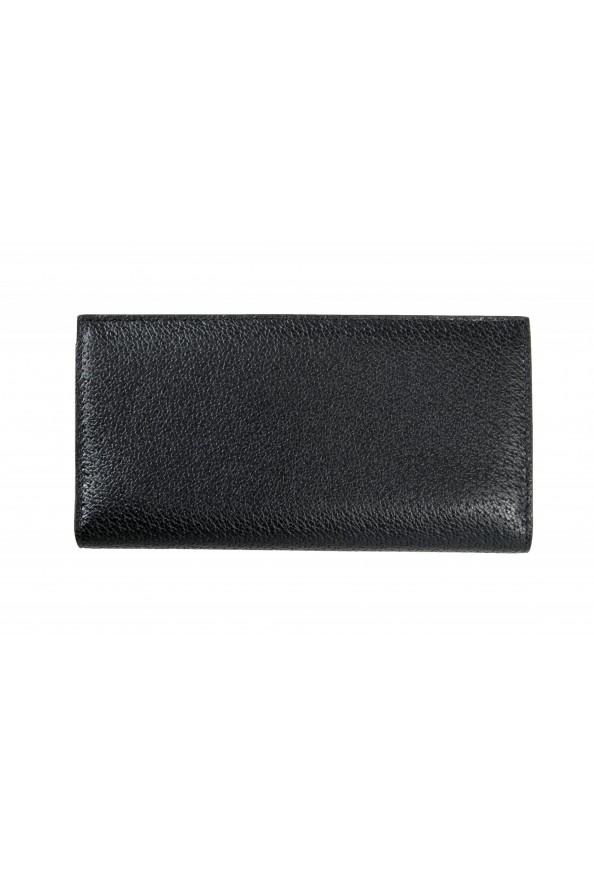 Versace Women's Black Textured Leather Medusa Logo Wallet: Picture 6