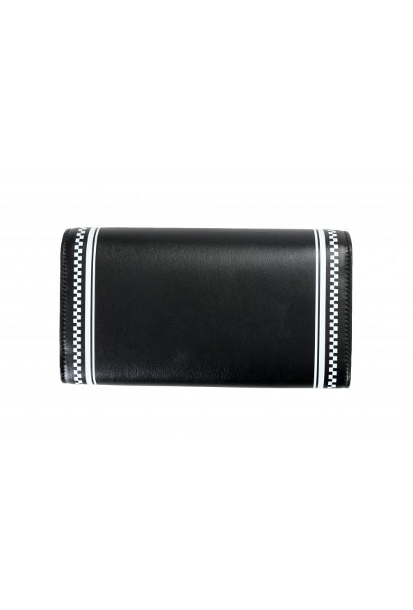 Versace Women's Black Logo Print Leather Wallet: Picture 3