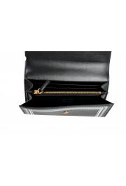 Versace Women's Black Logo Print Leather Wallet: Picture 5