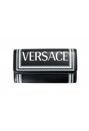 Versace Women's Black Logo Print Leather Wallet: Picture 2