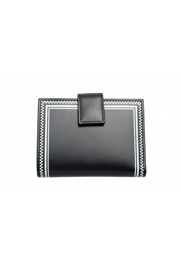 Versace Women's Black Logo Print Leather Bifold Wallet: Picture 3