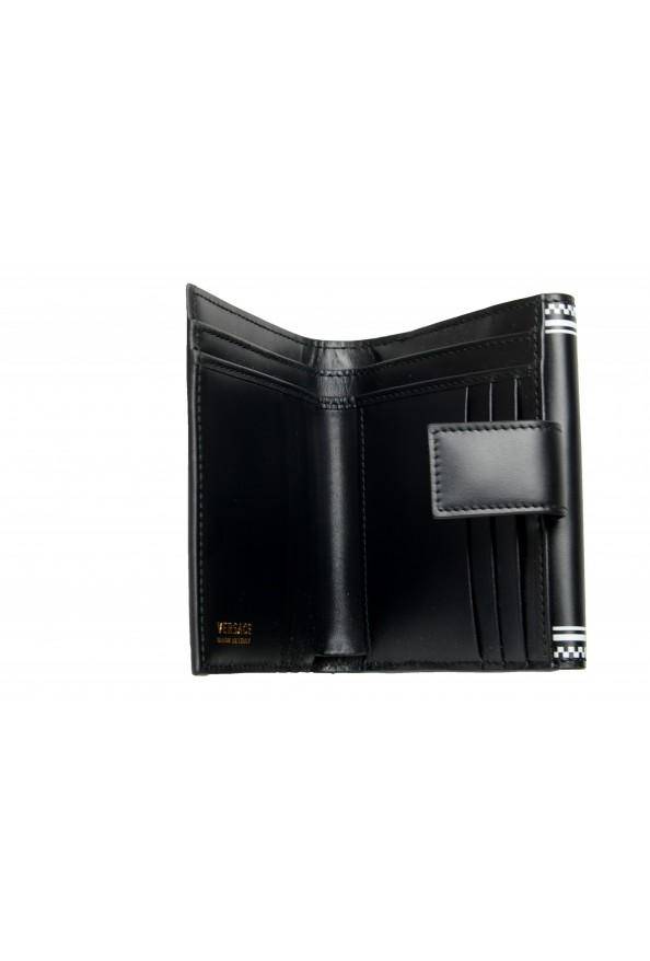 Versace Women's Black Logo Print Leather Bifold Wallet: Picture 5