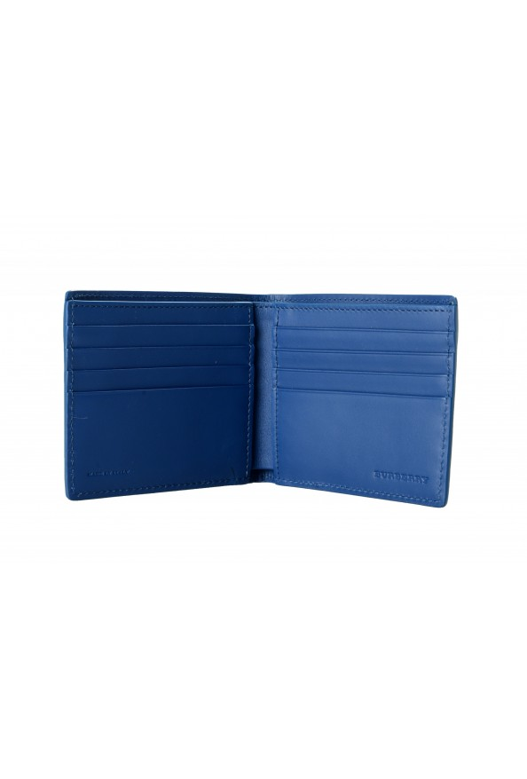 Burberry Men's Navy Blue Textured Leather Bifold Wallet: Picture 3