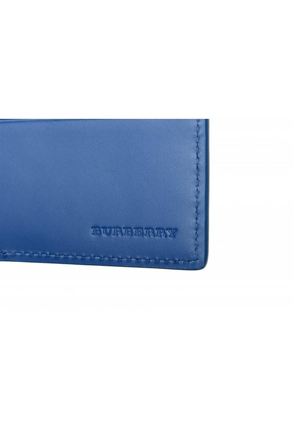 Burberry Men's Navy Blue Textured Leather Bifold Wallet: Picture 4
