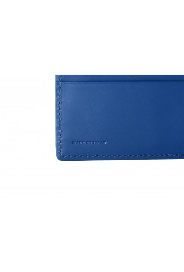 Burberry Men's Navy Blue Textured Leather Bifold Wallet: Picture 5