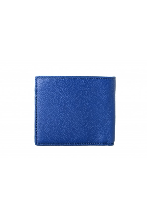Burberry Men's Navy Blue Textured Leather Bifold Wallet: Picture 6