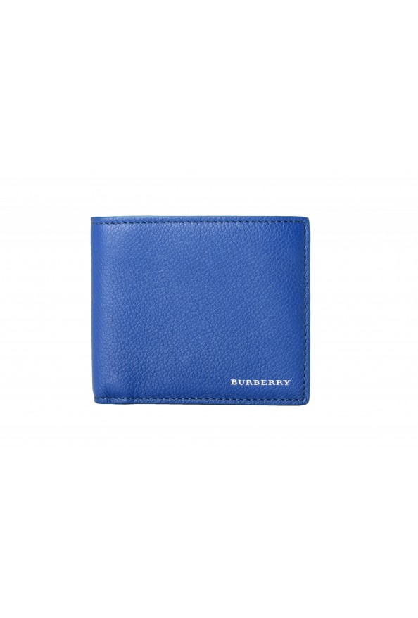 Burberry Men's Navy Blue Textured Leather Bifold Wallet