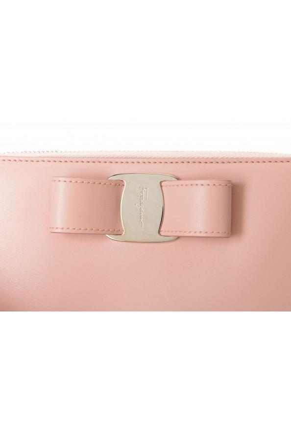 Salvatore Ferragamo Women's Pink 100% Leather Zip Around Wallet: Picture 2