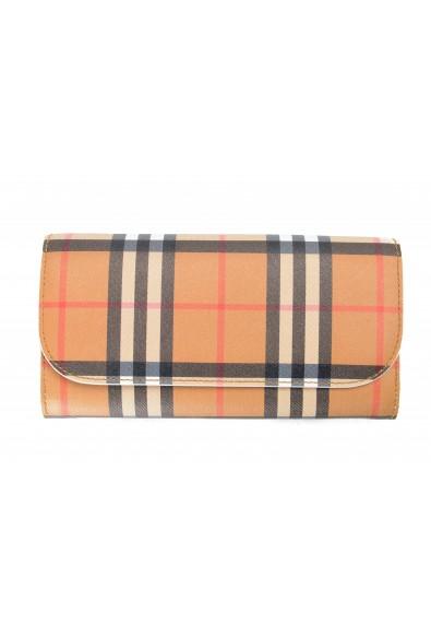 "Burberry Women's ""Halton"" Multi-Color Checkered Leather Wallet"