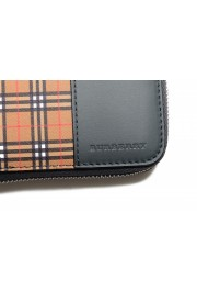 """Burberry Women's """"RENFREW"""" Multi-Color Checkered Leather Zip Around Wallet: Picture 5"""