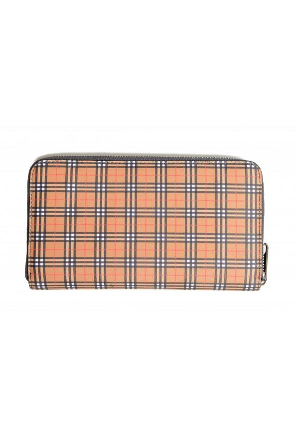 "Burberry Women's ""RENFREW"" Multi-Color Checkered Leather Zip Around Wallet"