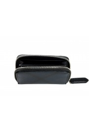 Burberry Men's Black & Blue Textured Leather Zip Around Wallet: Picture 2