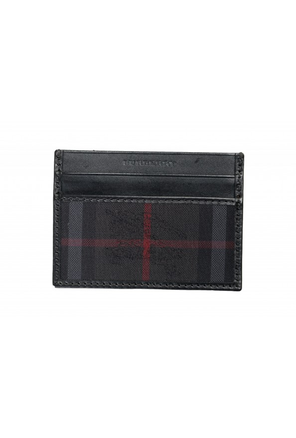 Burberry Unisex Checkered Leather Multi-Color Credit Card Case