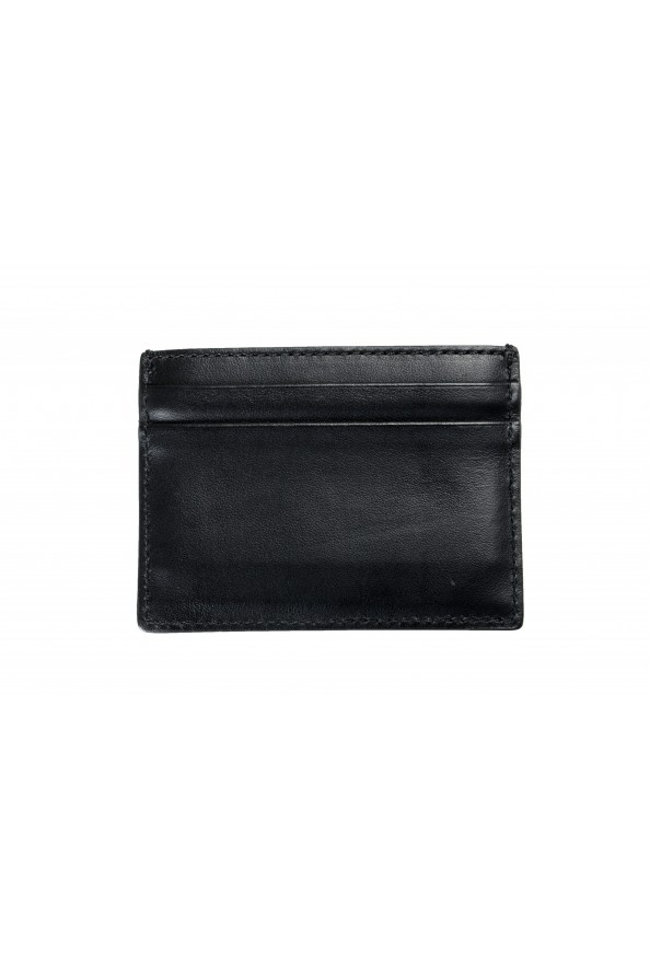 Burberry Unisex Black Leather Logo Print Credit Card Case: Picture 2