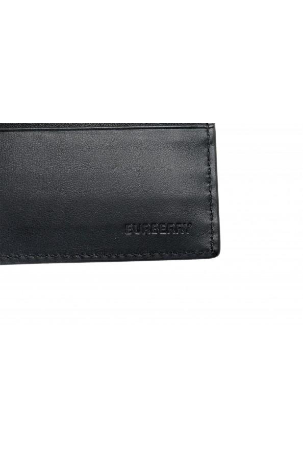 Burberry Men's Black Logo Print Leather Bifold Wallet: Picture 3