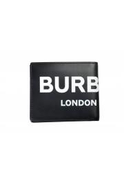 Burberry Men's Black Logo Print Leather Bifold Wallet: Picture 4