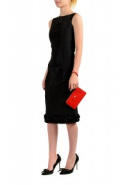 Versace Women's Red Textured Leather Gold Medusa Wristlet Clutch Handbag Bag: Picture 3