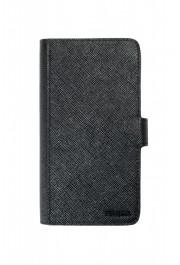 Prada Unisex Black Saffiano Leather 2ZH072 IPhone Case Wallet Case