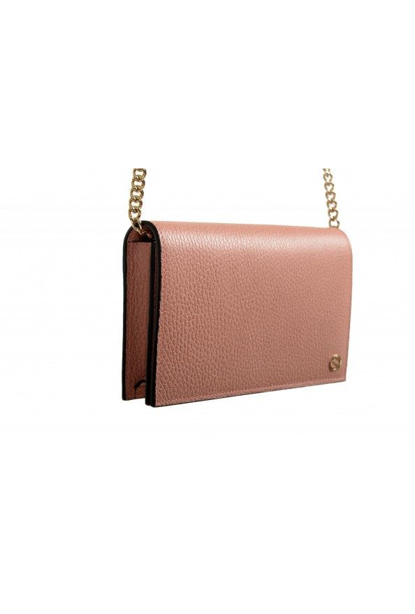 Gucci Women's Dust Pink Textured Leather 466506 CAO0G 5806 Handbag Bag: Picture 3