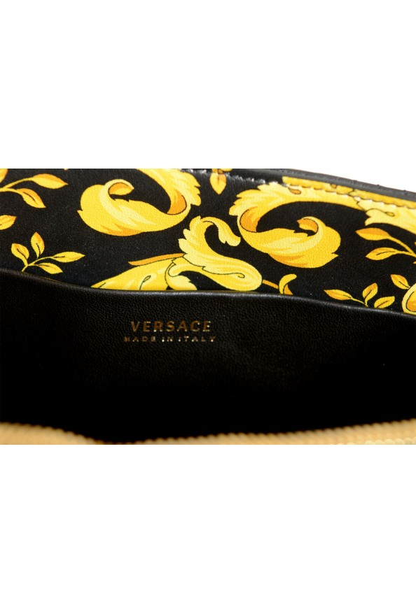Versace Women's Virtus Black Leather Quilted Small Tote Bag: Picture 6