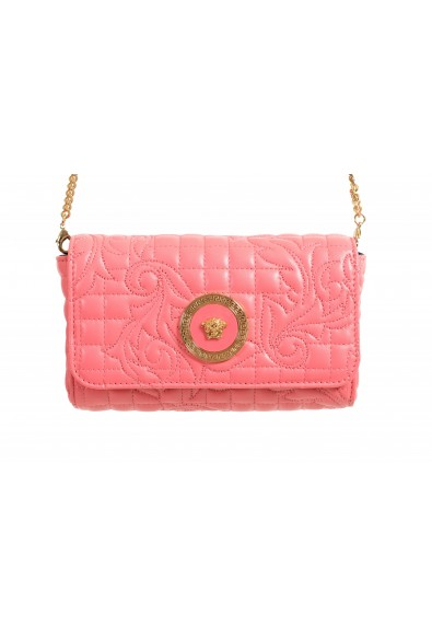 Versace Women's Pink Leather Quilted Small Crossbody Bag: Picture 2