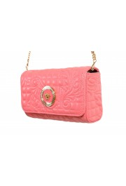 Versace Women's Pink Leather Quilted Small Crossbody Bag: Picture 3
