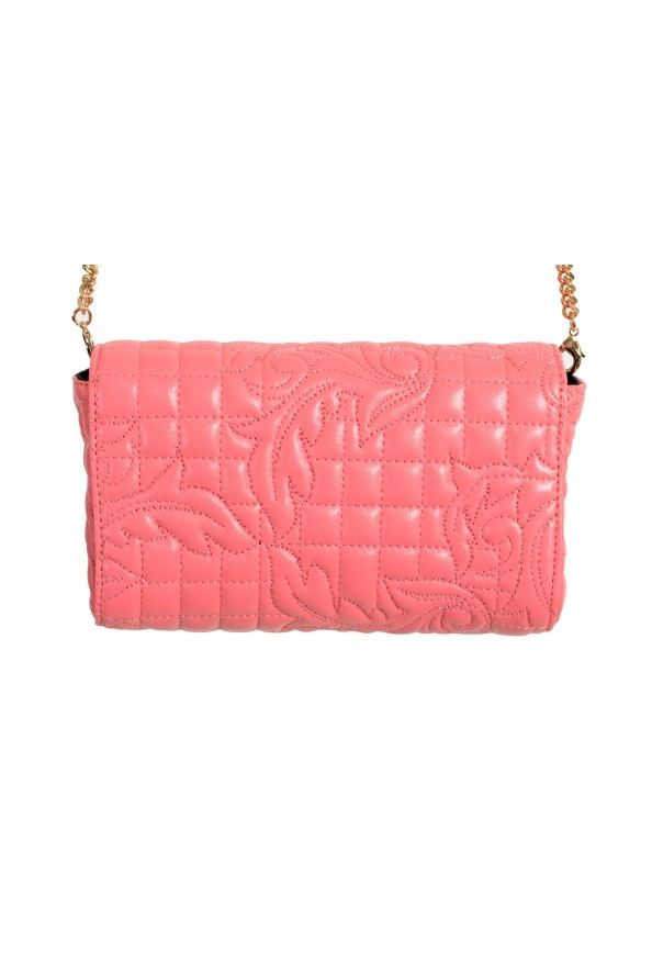 Versace Women's Pink Leather Quilted Small Crossbody Bag: Picture 4