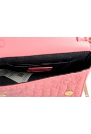 Versace Women's Pink Leather Quilted Small Crossbody Bag: Picture 5