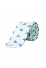 "Burberry Men's 100% Silk ""Stanfield"" Green Logo Print Tie"