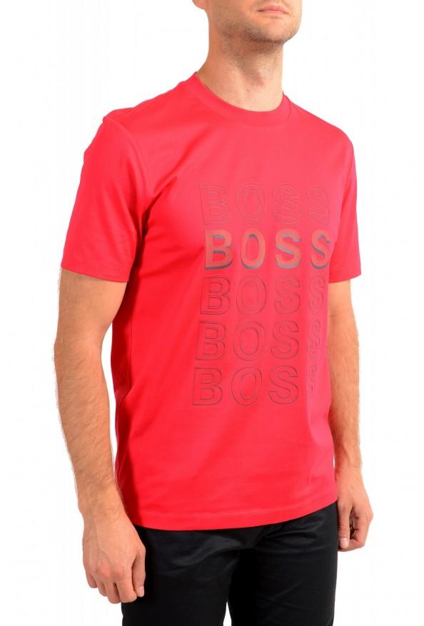 "Hugo Boss Men's ""Tiburt 204"" Red Graphic Print Crewneck T-Shirt: Picture 2"