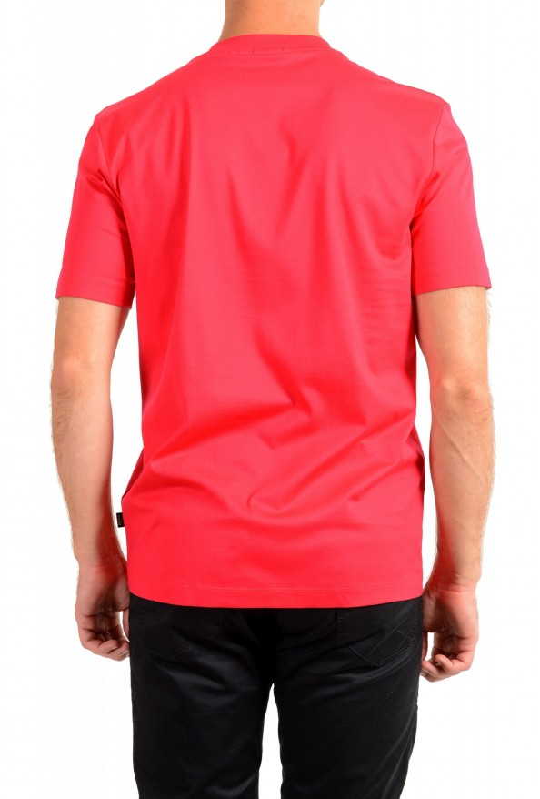 "Hugo Boss Men's ""Tiburt 204"" Red Graphic Print Crewneck T-Shirt: Picture 3"