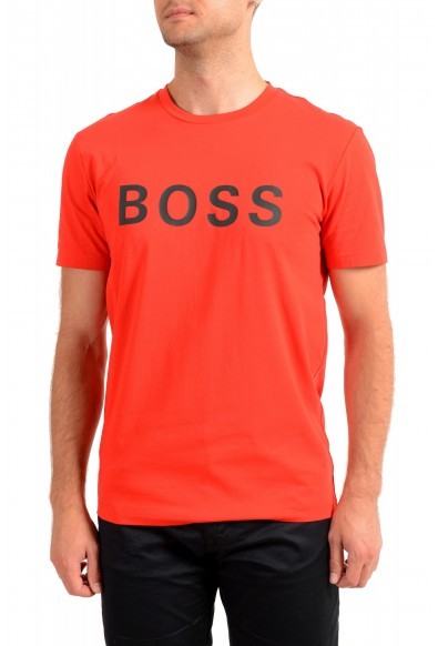 "Hugo Boss Men's ""Tiburt 171_BB"" Red Graphic Print Crewneck T-Shirt"