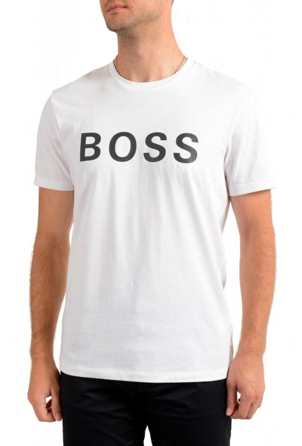 """Hugo Boss Men's """"Tiburt 171_BB"""" White Graphic Print Crewneck T-Shirt"""