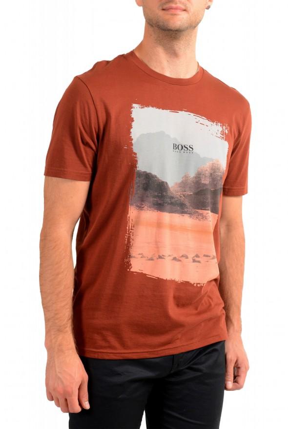 "Hugo Boss Men's ""Tsummery"" Brown Graphic Print Crewneck T-Shirt : Picture 2"