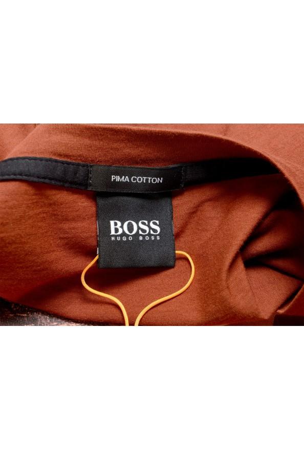 "Hugo Boss Men's ""Tsummery"" Brown Graphic Print Crewneck T-Shirt : Picture 5"