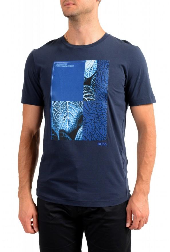 "Hugo Boss Men's ""Tee 9"" Blue Graphic Print Crewneck T-Shirt"