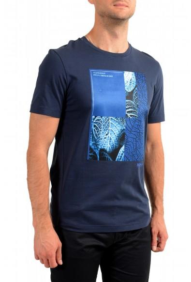 "Hugo Boss Men's ""Tee 9"" Blue Graphic Print Crewneck T-Shirt: Picture 2"