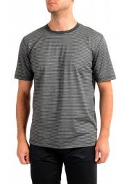 "Hugo Boss Men's ""Tseed"" Gray Striped Crewneck T-Shirt"