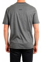 "Hugo Boss Men's ""Tseed"" Gray Striped Crewneck T-Shirt: Picture 3"