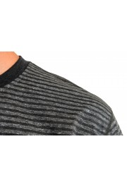 "Hugo Boss Men's ""Tseed"" Gray Striped Crewneck T-Shirt: Picture 4"