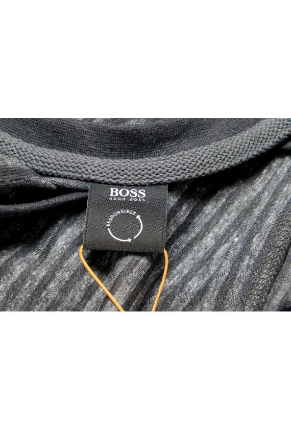 "Hugo Boss Men's ""Tseed"" Gray Striped Crewneck T-Shirt: Picture 5"