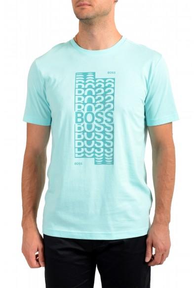 "Hugo Boss Men's ""Tee 1"" Blue Graphic Print Crewneck T-Shirt"