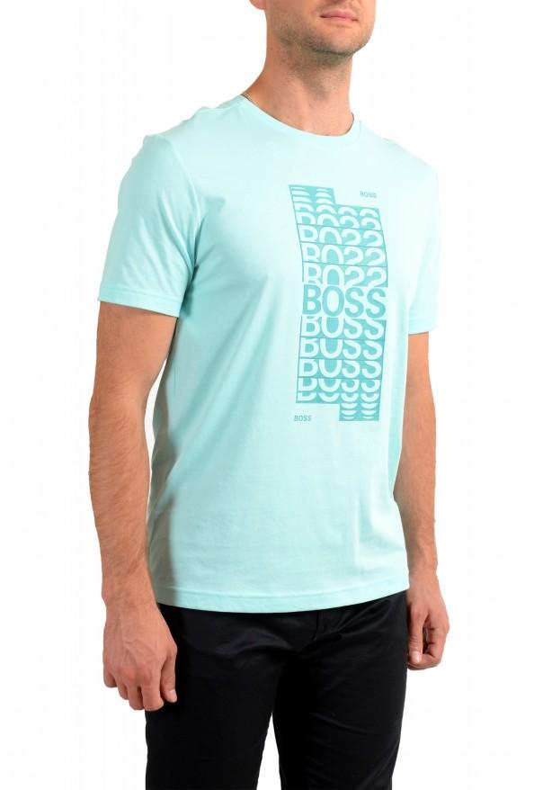 "Hugo Boss Men's ""Tee 1"" Blue Graphic Print Crewneck T-Shirt: Picture 2"