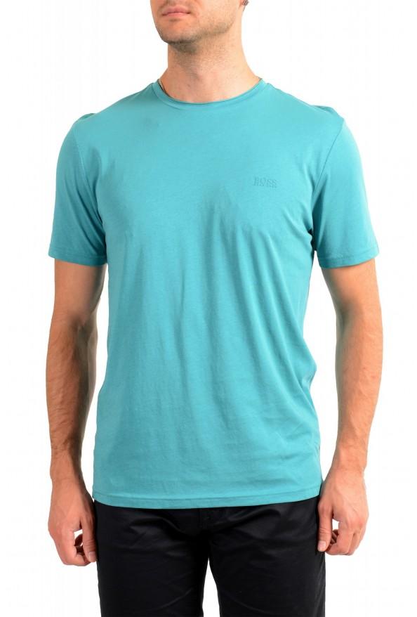 "Hugo Boss Men's ""Trust"" Teal Blue Crewneck T-Shirt"