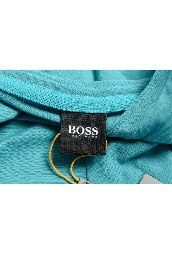 "Hugo Boss Men's ""Trust"" Teal Blue Crewneck T-Shirt : Picture 5"