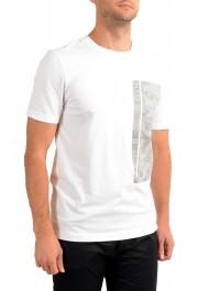 "Hugo Boss Men's ""Tee 10"" White Graphic Print Crewneck T-Shirt : Picture 2"