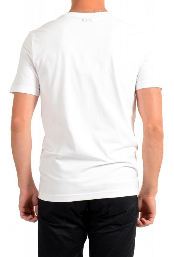 "Hugo Boss Men's ""Tee 10"" White Graphic Print Crewneck T-Shirt : Picture 3"