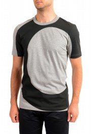 "Hugo Boss Men's ""Tiburt 230"" Gray Graphic Print Crewneck T-Shirt"