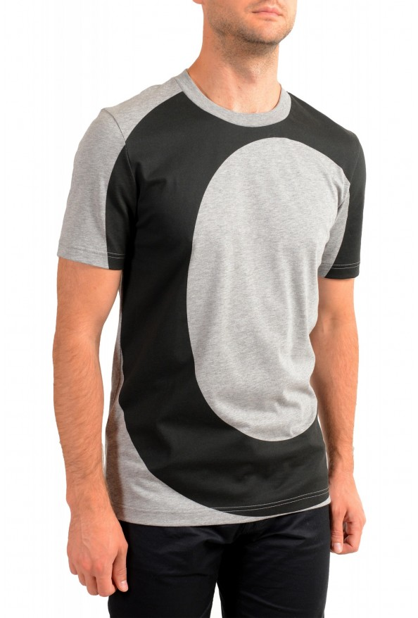"Hugo Boss Men's ""Tiburt 230"" Gray Graphic Print Crewneck T-Shirt: Picture 2"